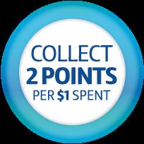 2 POINTS Per 1 Spent